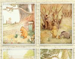 winnie the pooh art etsy