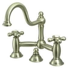 Bridge Faucet Bathroom by Nickel Finish Widespread Faucet Wayfair