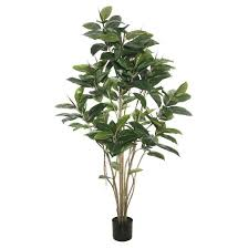 artificial potted rubber tree 5ft green vickerman target