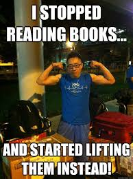 Reading Book Meme - weightlifting books