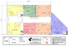 office furniture floor plan for a small office cubiclelayout