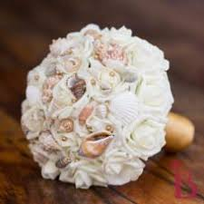 wedding bouquets with seashells blue aqua seashell wedding bouquet thebridalflower