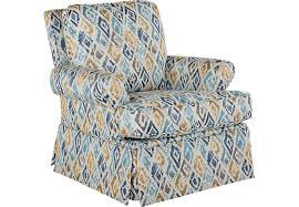 Swivel Armchairs For Living Room Tristan Denim Accent Swivel Chair Accent Chairs Blue