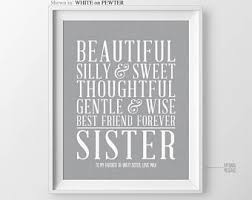 unique sister gift for sister in law gift for maid of honor