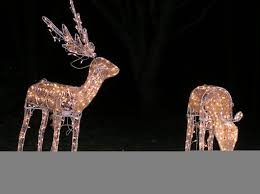 lighted deers decorations outdoor decorationschristmas