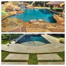 make a splash with a stone pool deck infinity pools tx