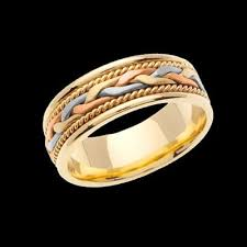 braided wedding band tri color braided wedding band