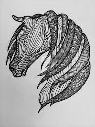 100 coloring pages horses