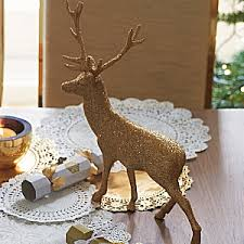 Christmas Table Decorations With Deer by Gold Reindeer Christmas Table Decoration