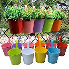 amazon com hanging flower pots out topper balcony garden plant