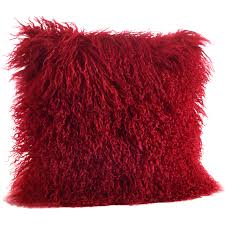 Overstock Com Styles Mongolian Lamb Pillow Fluffy Cushion Overstock Com Pillows