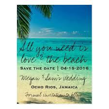 destination wedding save the dates jamaica destination wedding save the date postcard zazzle
