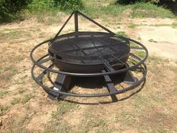 Firepit Grill 37 Inch Pit With Grill Top Heavy Duty Pits