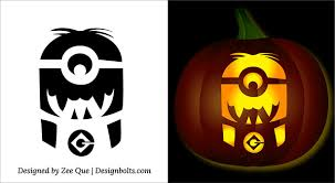 Free Scary Halloween Pumpkin Stencils - 5 free halloween minion pumpkin carving stencils patterns ideas