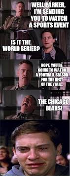 Funny Chicago Bears Memes - peter parker cry meme imgflip