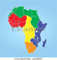 africa map color color map of africa regions stock illustrations search eps