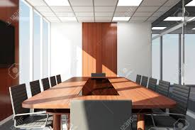 Modern Conference Room Design by Modern Meeting Room 3d Interior With Big Windows Stock Photo