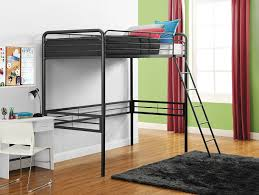 amazon com dhp simple metal loft bed frame multifunctional twin