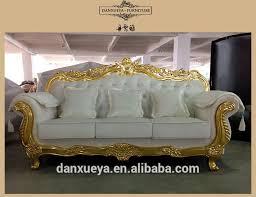 Velvet Sofa Set Nailhead Velvet Sofa Golden White Wedding Sofa Luxury Carved Sofa