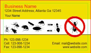 pest business cards designsnprint