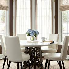 round marble kitchen table leather dining chairs design ideas