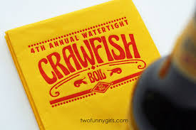 personalized crawfish trays custom napkins for seafood boil yellow