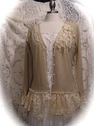 Shabby Chic Boutique Clothing by Shabby Bohemian Sweater Altered Couture Clothing Tattered Chic