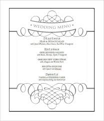 wedding menu template wedding menu template microsoft word best and professional templates