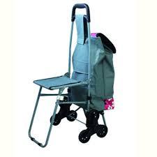 avec siege chariot de courses 6 roues avec siège pliable tissu fleurs