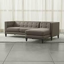 Tufted Sectional Sofa Chaise Aidan Grey 2 Sectional Sofa In Aidan Sectional Sets