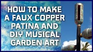 Copper Garden Art How To Make A Faux Copper Patina And Diy Musical Garden Art