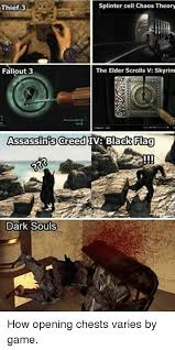 Assassins Creed 4 Memes - splinter cell chaos theory thief 3 fallout 3 the elder scrolls v
