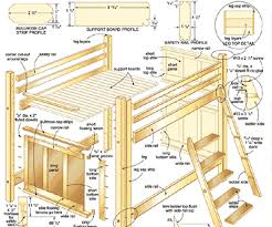 Free Loft Bed Plans Queen by 100 Best Woodworking Bed Plans Images On Pinterest Woodwork