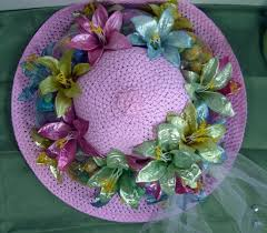Easter Bonnet Decorations by Easter Bonnet For Easter Contest U0026 Some Bunco Pics Diy Crafty