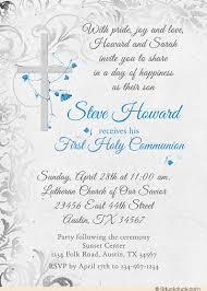 communion invitations for boys holy communion invitation cross catholic flowers