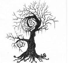 tim burton tree of course there are swirls and trees in his
