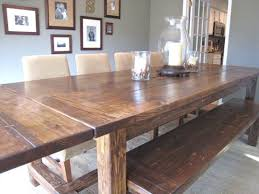 Homemade Dining Room Table Alluring Kitchen Table Bench Plans And Dining Room Cool Kitchen