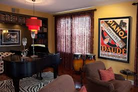 Red And Brown Bedroom Interior Excellent Music Theme Bedroom In Britpop Style With The