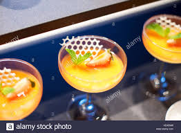 dessert canapes dessert canapes on glass in restaurant stock photo royalty
