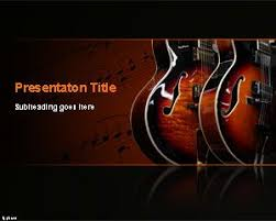blues music powerpoint template ppt template music instruments