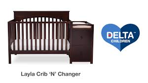 Delta Canton Convertible Crib by Delta Children U0027s Layla 4 In 1 Crib U0027n U0027 Changer Vignette Youtube