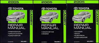 2005 toyota manual 2005 toyota camry repair shop manual original set