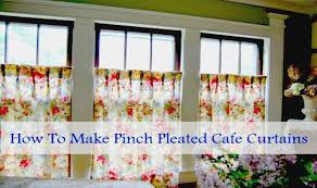 pinch pleated cafe curtains