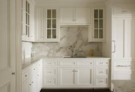 Kitchen Marble Countertops Gorgeous Kitchen Features White Shaker Cabinets Paired With Gray