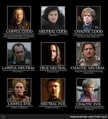 D And D Memes - game of thrones d d alignment by rob lucci meme center