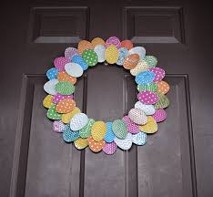 how to make an easter egg wreath aluminum can easter egg wreath