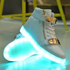 light up high tops nike wholesale sale men women high top led shoes for adults white