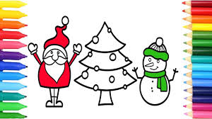 children u0027s coloring pages santa christmas christmas tree