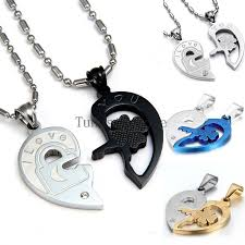 couples necklace fashion you lock and key couples necklace set