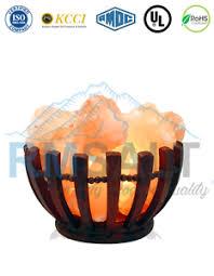 ebay himalayan salt l himalayan salt l pink crystal ionizer wood basket pink salt bulb